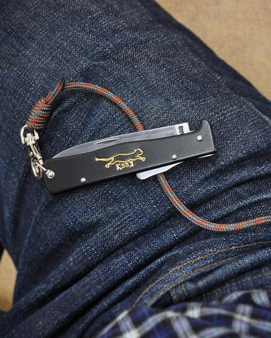 Knives lanyards and otter on pinterest for Knife lanyard ideas