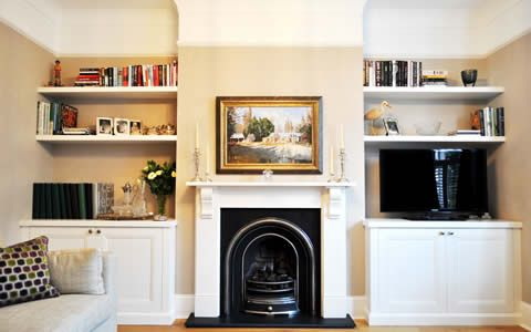 Bespoke Alcove Units, Shelves, Cupboards, Wardrobes - London Alcove Company
