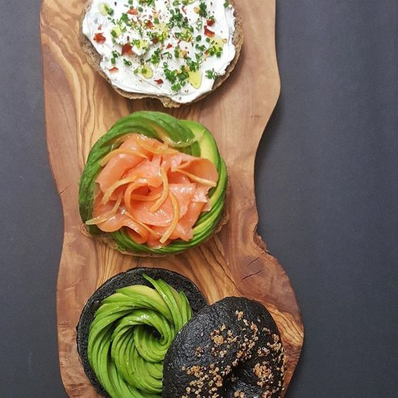 Salmon bagel @bluecirclefoods 💥💥Blue Circle Foods works only with fishermen and farmers who share the company's commitment to quality,  traceability and sustainability💥💥#smarterschooloffish #bluecirclefoods #chefsrollcap217bc -  Smoked salmon, homemade charcoal rye bagel with quinoa, cream cheese, lemons preseved for 3 years. by @chefrichie88 #chefsrollofficial #rollwithus Official apparel sponsor @lostcarchef #chefsroll #sponsored_CRfeb2017 ---#chefsloveavos