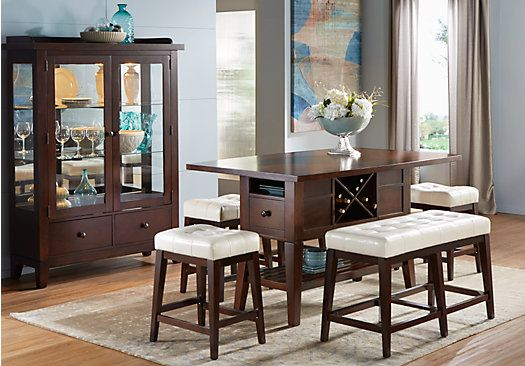 Shop For A Julian Place Chocolate Vanilla 5 Pc Counter Height Dining Room At Rooms To Go Find Sets That Will Look Great In Your Home