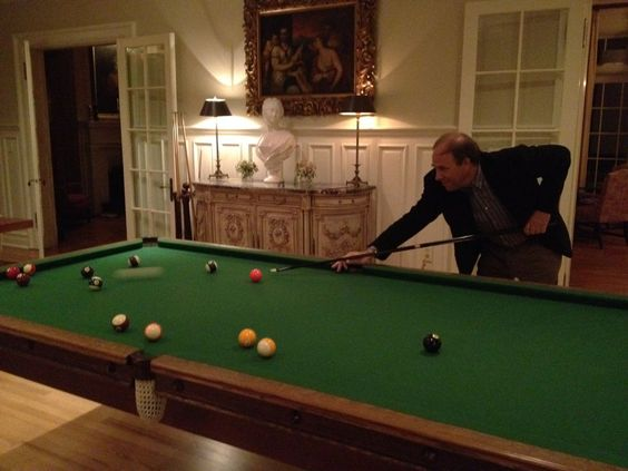 There is a regulation size pool table at Keswick Hall for the guestd to have fun.