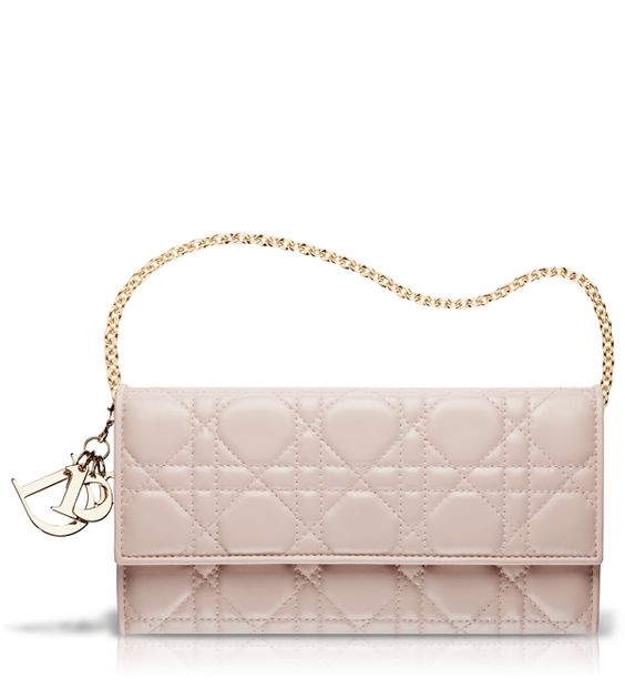 celine luggage bag replica - Powder pink leather 'Lady Dior' wallet (with chain) | Bag Lady ...
