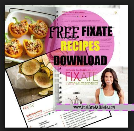 fixate cookbook pdf free download