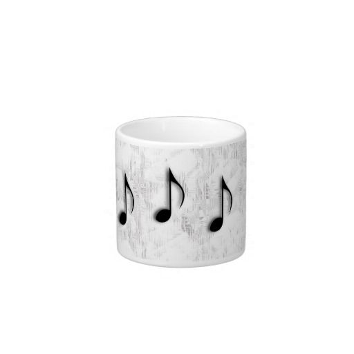 Music Notes Espresso Mug  20% off #leatherwooddesign www.leatherwooddesign.com
