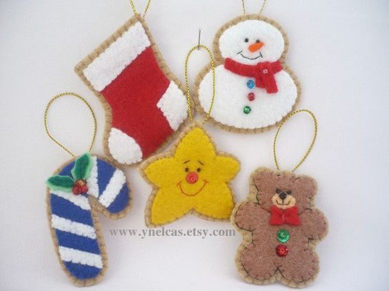 Felt Christmas Ornament  Tree Ornaments Christmas by ynelcas