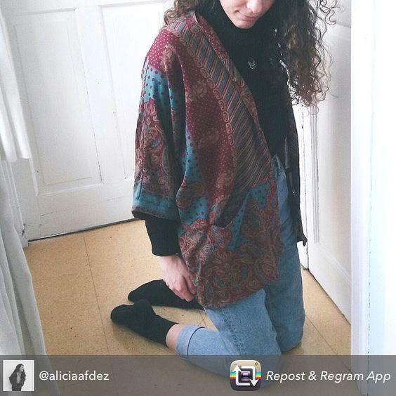 Nuestra guapa @aliciaafdez con uno de nuestros kimonos más especiales ✨💞👘🐘 #kimono #boho #blogger #fashion #moda #style #stylish #guapa #cotton #unique