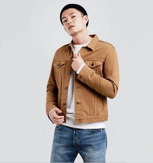 Levi's Trucker Denim Jacket Men's Brown Caraway Size S New