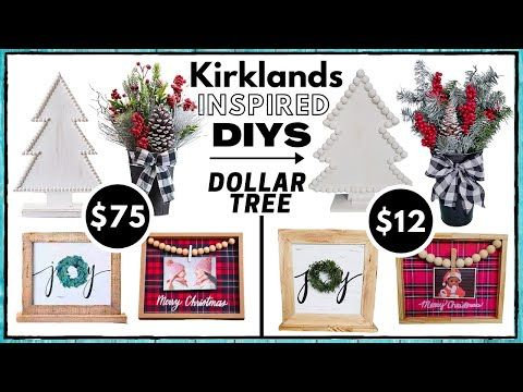 4 Dollar Tree Kirkland S Inspired Diys Christmas Decor Look For Less Super Easy Budget S In 2020 Dollar Tree Christmas Dollar Tree Crafts Christmas Decorations