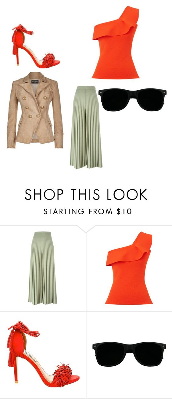 """Untitled #158"" by missweasley-899 ❤ liked on Polyvore featuring Givenchy, Roland Mouret, Steve Madden and Balmain"