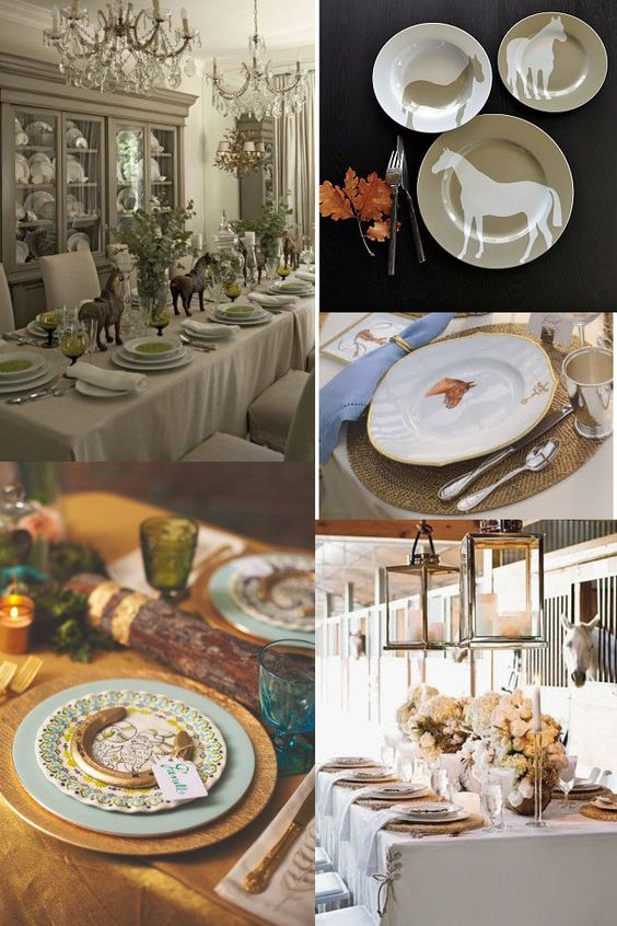 Classy Equestrian Dinner Settings Equestrian Table Settings