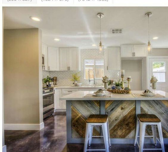 Love These Floors From Flip Or Flop: Hgtv Flip Or Flop Reclaim Wood Island