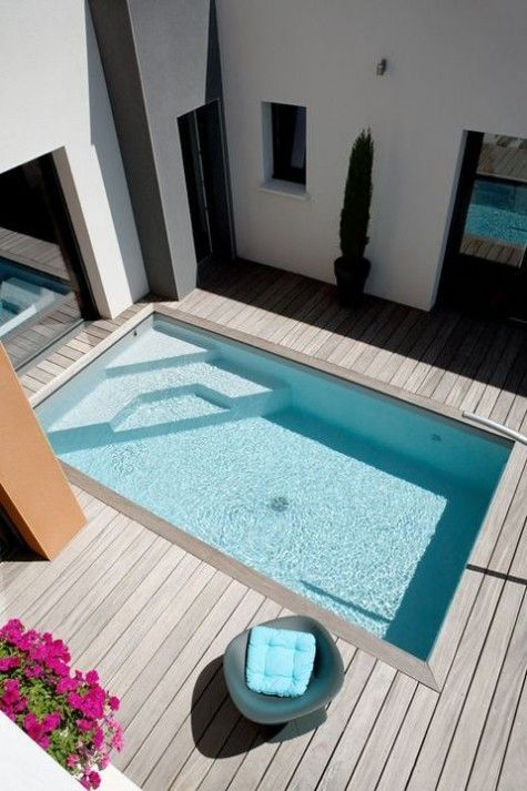 Fit a pool in where you want it