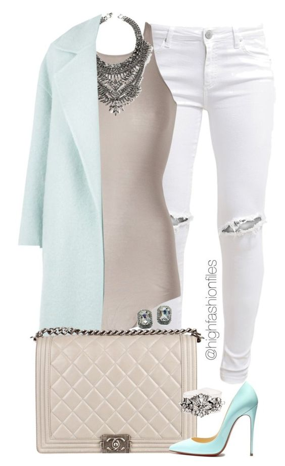 """Mint Edition"" by highfashionfiles ❤ liked on Polyvore featuring FiveUnits, Rick Owens, DYLANLEX, MaxMara, Chanel, Fantasy Jewelry Box and SHOUROUK:"