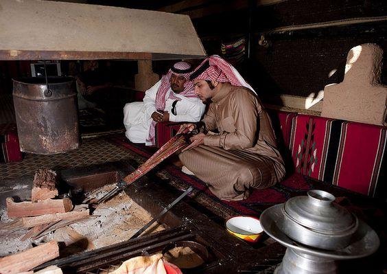 Saudi Arabia tent in the desert