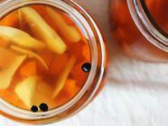 Maple Ginger Pickled Carrots