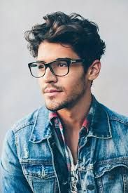 coiffure homme a lunette