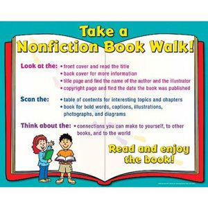 The students could also have a book walk where the students go through the story guessing what the story is about. Then they can go back and make connections to it to figure out what it is actually about.