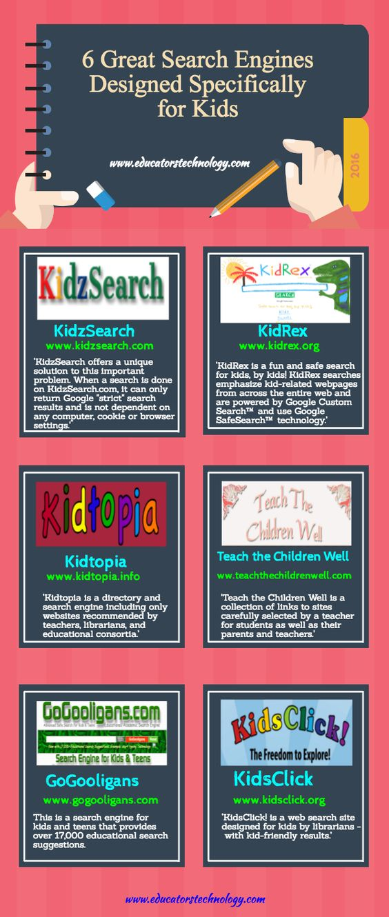 6 Great Search Engines Designed Specifically for Kids: