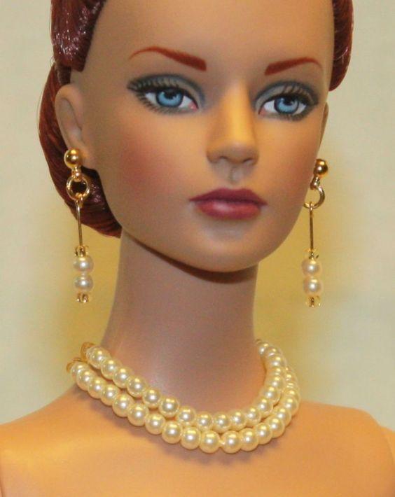 """Champagne Gold""Jewelry Set for Tonner Tyler Cami Ellowyne DeeAnna Gene Sybarite"
