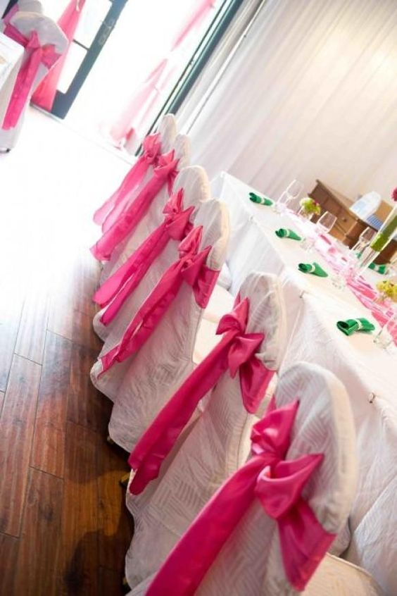 Fuchsia wedding decor