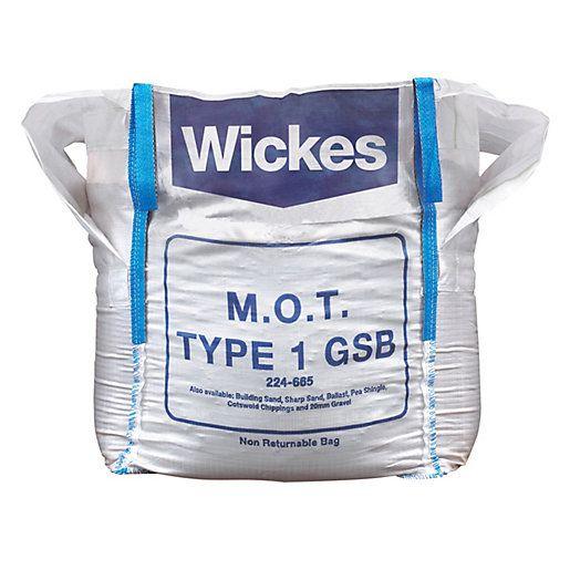 Mum Dad Shed Wickes Granular Sub Base Mot 1 Jumbo Bag Product Code 224665 10m2 50mm Deep Wickes Building Sand Bags