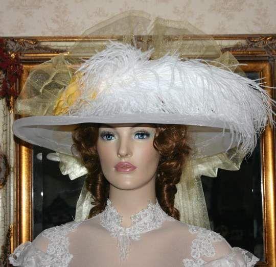 Victorian Hat � Golden Rose Crystal Fairy
