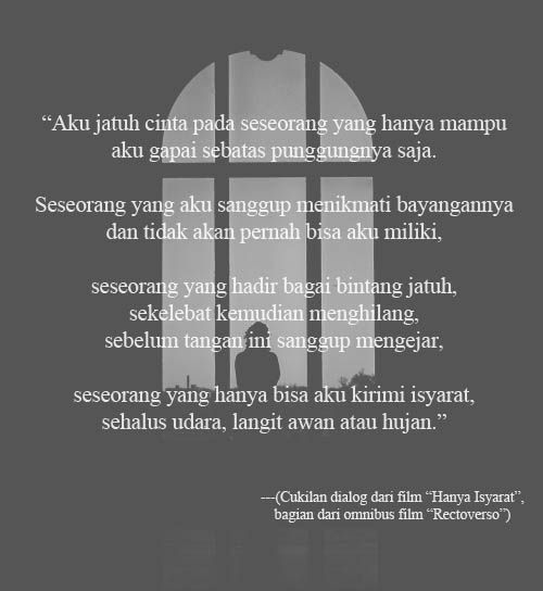 From Rectoverso by Dee Lestari