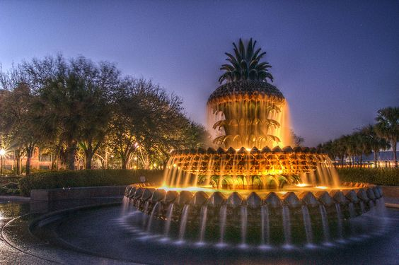 Charleston Pineapple fountain: