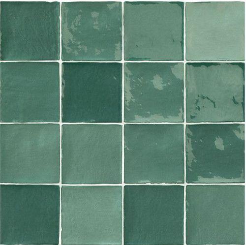 carrelage effet zellige vert 10x10cm