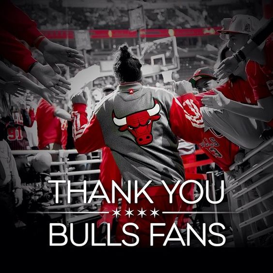 To the best fans in the NBA, you are truly the heart and soul of the Chicago Bulls. Thank you for the incredible way you supported our team this year. You packed the United Center for every game, supported us on the road, attended events, shared your support across social media and brought such energy and electricity to this season. Thank you for your loyal support and we look forward seeing you in the 2014-15 season as we continue to make the City of Chicago proud.