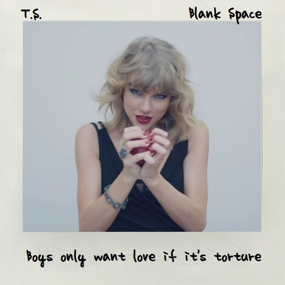 Blank Space: Taylor Swift Coverart