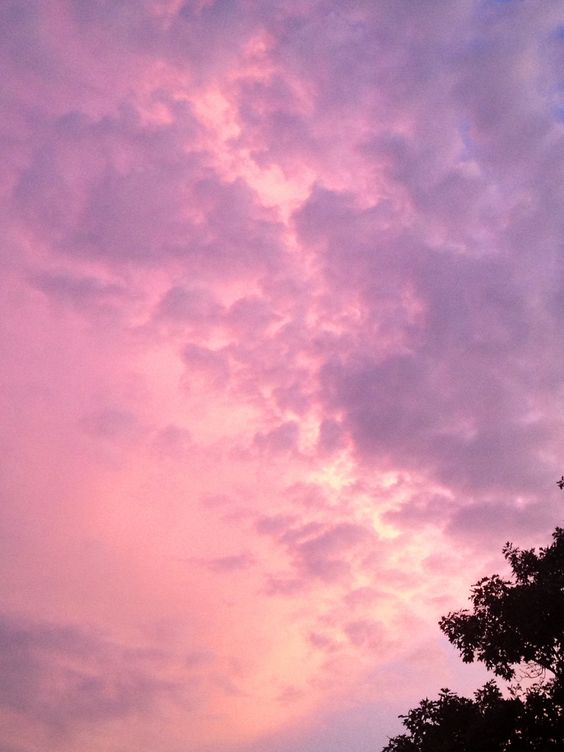 Cool early evening sky in our backyard....