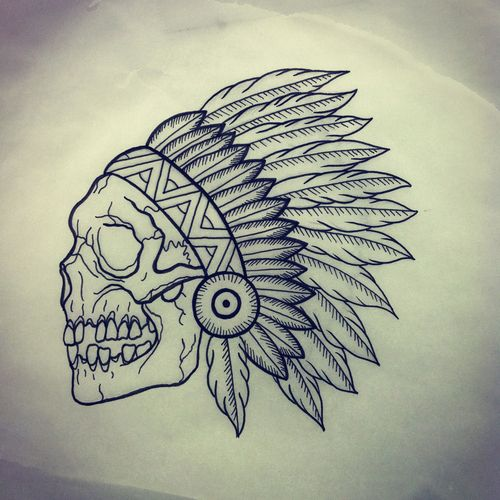indian skull tumblr tattoos pinterest dessins tatouages indiens et recherche. Black Bedroom Furniture Sets. Home Design Ideas