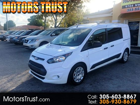 2015 Ford Transit Connect Lwb Xlt White Comm Pickup Van 4 Doors 13200 To View More Details Go To Https Ww Ford Transit Car Finance
