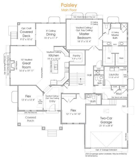 Paisley Utah Rambler Floor Plan EDGE Homes Wish List