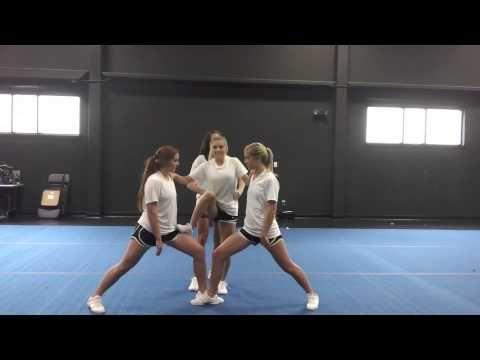 Basic Cheerleading Stunt Progression: Step Lock Drill - YouTube