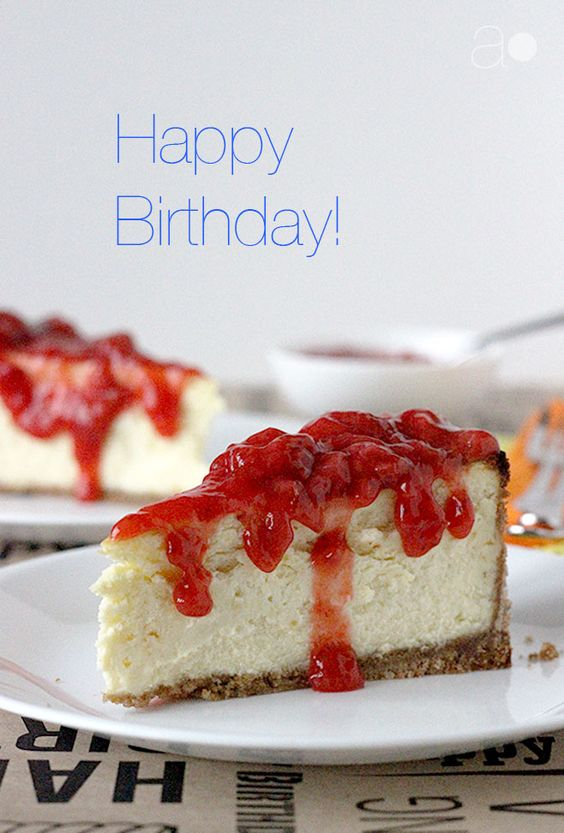 ambrosia: NY Style Birthday Cheesecake