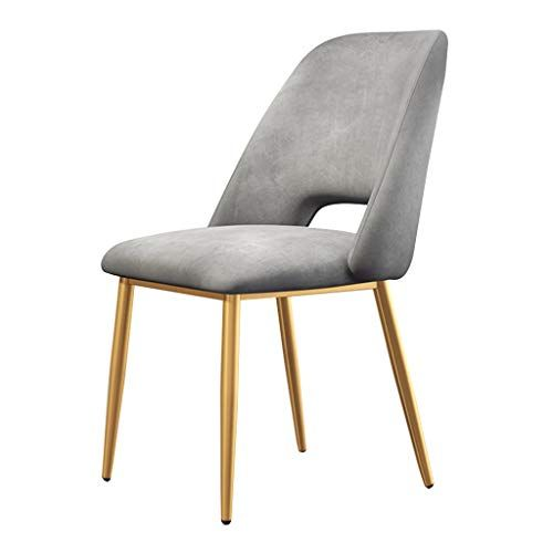 Xsj Chairs Modern Dining Chair With 4 Gold Metal Legs Comfortable