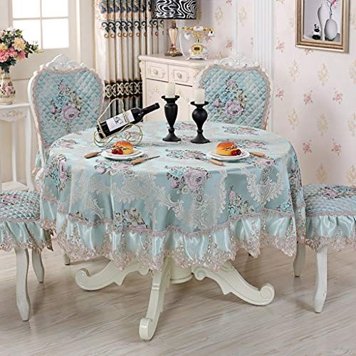 Wenjun Big Round Table Tablecloth Dining Table Cloth Hand Embroidery Tablecloth Back Cushion Set 4 6 Place Rec Dining Table Cloth Tablecloth Dining Table Cloth