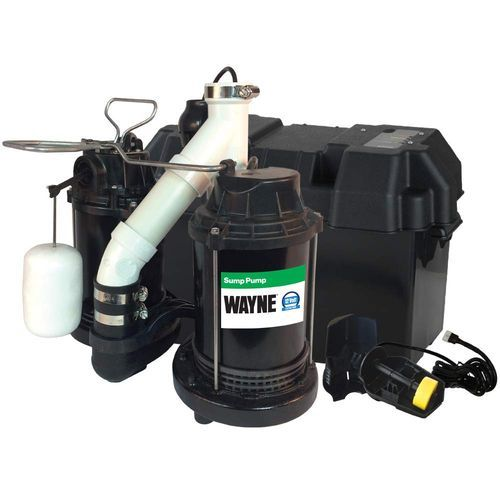 Wayne Wss30v Upgraded Combination 1 2 Hp And 12 Volt Battery Back Up System Sump Pump Submersible Sump Pump Sump