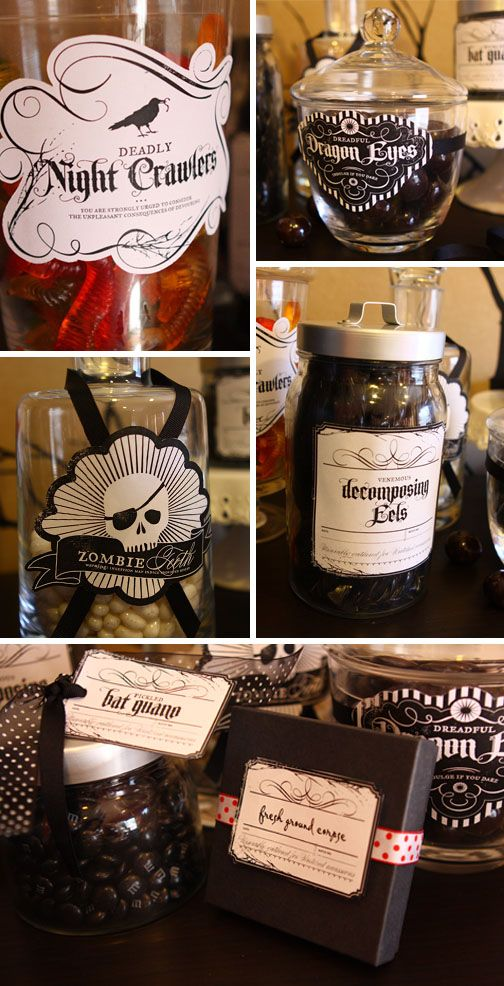 Printable Halloween Labels to Dress Up Your Halloween Party