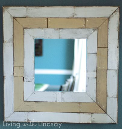 How to Make a DIY Pottery Barn Knock Off Mirror