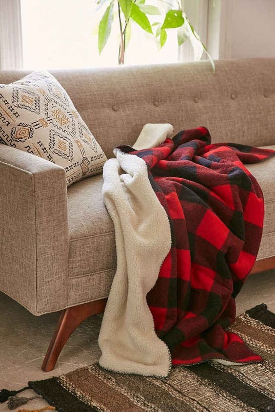 This sherpa lined flannel blanket that will always be there for you: