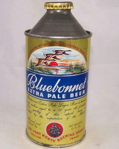 BLUEBONNET EXTRA PALE BEER ,Dallas TX | Old beer cans, Beer brands, Beer  can collection