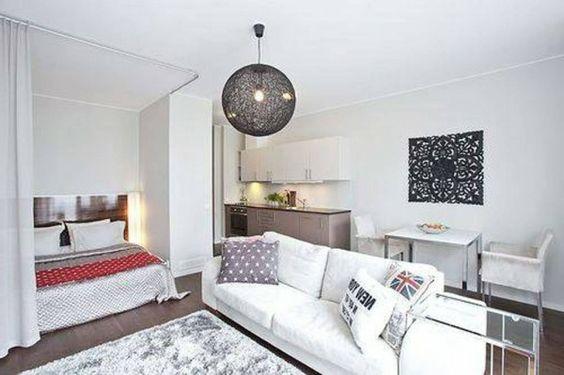 Schön Einzimmerwohnung Einrichten   Tolle Und Praktische Einrichtungstipps |  Wohnung | Pinterest | Tiny Apartments, Apartments And Studio Apartment