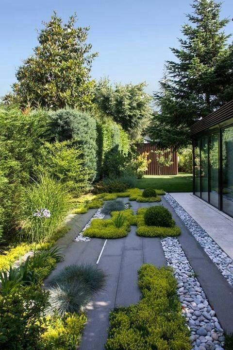 14 Idees D Inspiration Interieure Contemporaine Celeste Celeste Contemporaine Idees Inspiration Interi In 2020 Garden Design Modern Garden Design Modern Garden