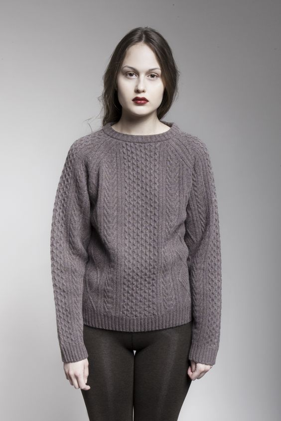 MASKA Malin cable knitted sweater | 100% extra fine lambswool | Knitted in Latvia www.maska.se