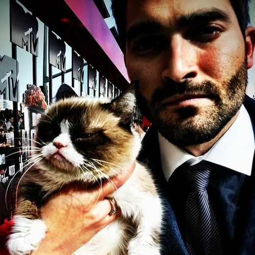 Teen Wolf ~ GrumpyCat  Tyler Hoechlin at the 2014 MTV Movie Awards