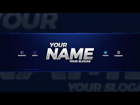 New Free 2018 Youtube Banner Template Free Youtube Banner Template Psd Intended For Youtube Banner In 2020 Youtube Banner Template Youtube Banners Banner Template