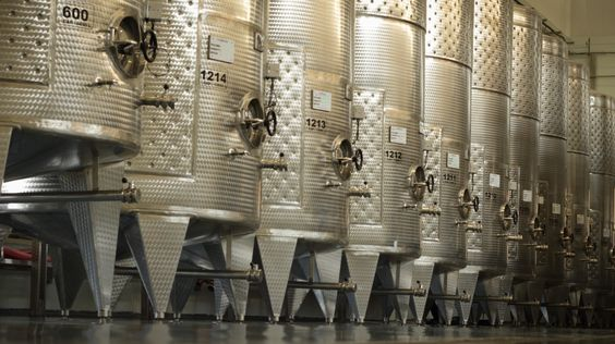 Steel and more: Giant stainless steel tanks dominate the new @ChandonIndia winery